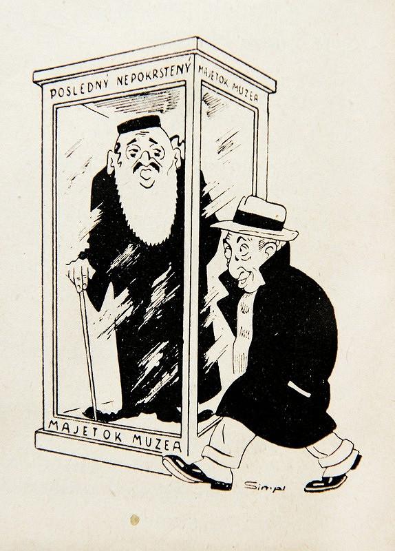 Neznámy autor – Protižidovské karikatúry z humoristického časopisu Kocúr - Posledný nepokrstený