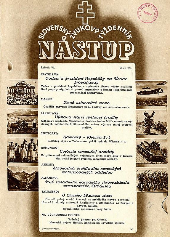 Neznámy autor - Leták týždenníka Nástup
