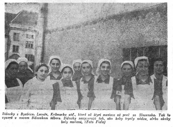 """Fritz Fiala - Inscenovaná fotografia židovského obyvateľstva """"v ich novom domove na východe"""