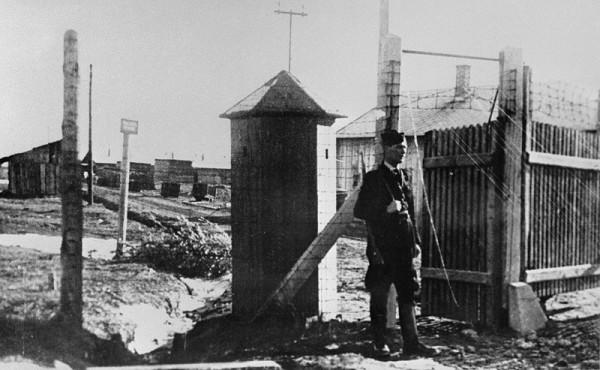 Neznámy autor - Pracovný tábor v Novákoch pre rasovo prenasledovaných občanov židovského obyvateľstva