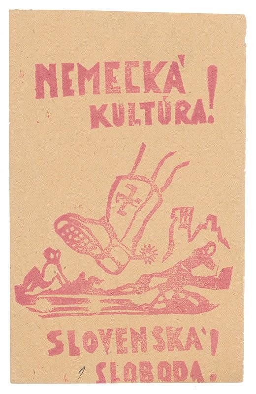 Neznámy autor – Nemecká kultúra! Slovenská sloboda!