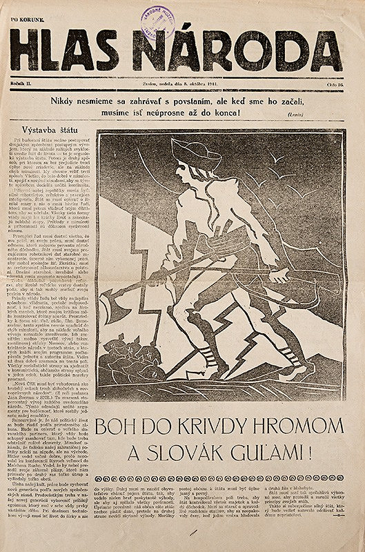 Neznámy autor - Obálka novín Hlas národa