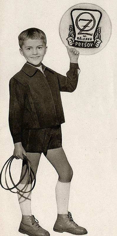 Karol Kállay – Chlapčenská duvetínová bunda a krátke menčestrové nohavice, odevné závody kpt. J. Nálepku, Prešov