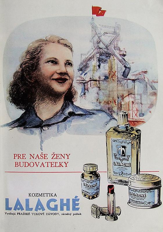 Neznámy autor – Reklama na kozmetiku Lalaghé