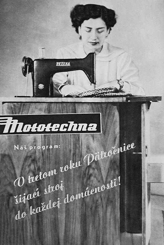 Neznámy autor – Mototechna, reklama na šijací stroj
