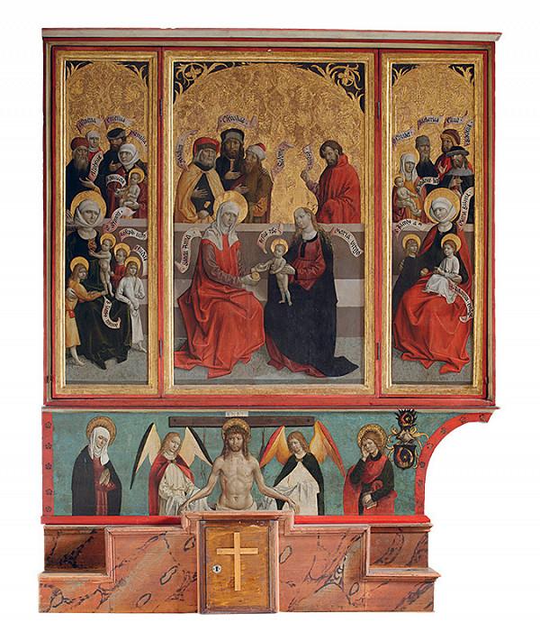 Majster z Okoličného – Oltár sv. Anny Samotretej (Svätého príbuzenstva) - sviatočná strana