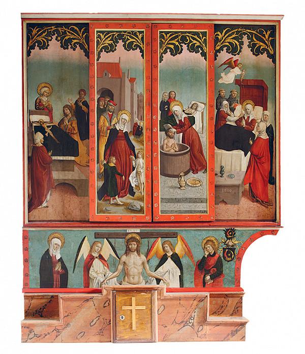 Majster z Okoličného - Oltár sv. Anny Samotretej (Svätého príbuzenstva) - pôstna strana