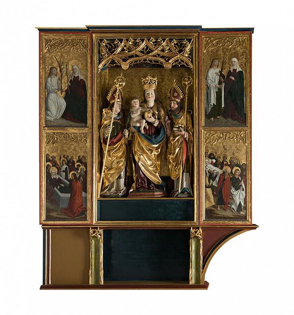 Majster z Okoličného - Oltár Panny Márie, sv. Mikuláša a sv. Erazma v Bardejove - sviatočná strana