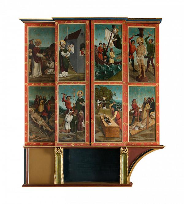 Majster z Okoličného - Oltár Panny Márie, sv. Mikuláša a sv. Erazma v Bardejove - pôstna strana