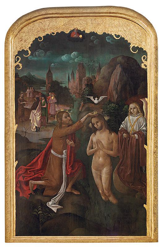 Majster L.A. (pravdepodobne) – Tabuľa z Oltára sv. Jána v Košiciach - Krst Krista v Jordáne