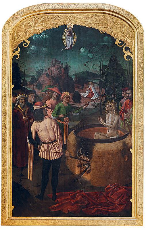 Majster L.A. (pravdepodobne) - Martýrium sv. Jána Evanjelistu