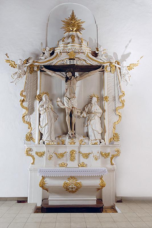 pravdepodobne Malopoľská dielňa - Krucifix z bočného Oltára ukrižovania v Okoličnom