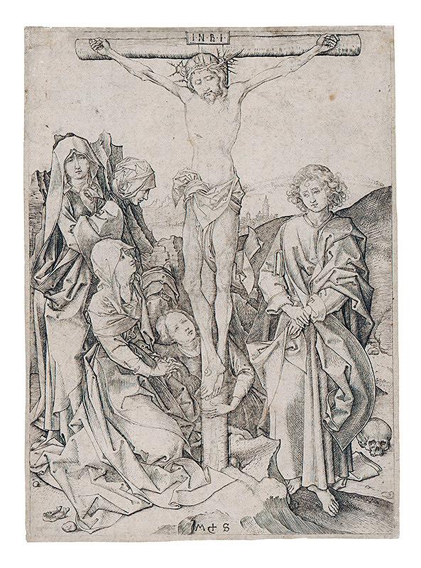 Martin Schongauer – Ukrižovanie z cyklu pašie (8/12)