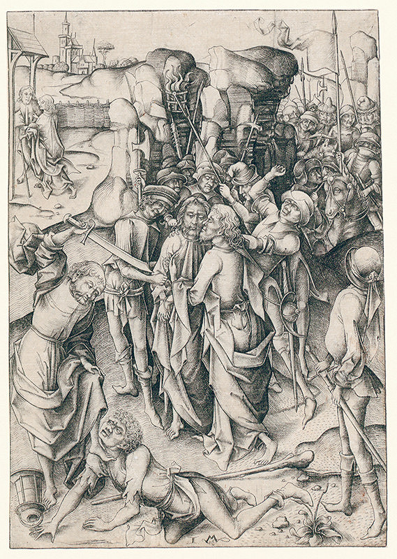 Israhel Van Meckenem – Zajatie Krista z cyklu veľké pašie (2/12)