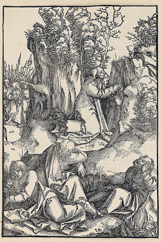 Hans Schäufelein (Schäufelin) st. – Kristus sa modlí na Olivovej hore