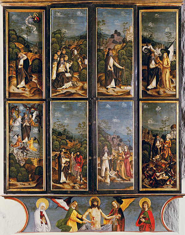 Majster legendy sv. Antona – Oltár sv. Antona - zatvorená skriňa