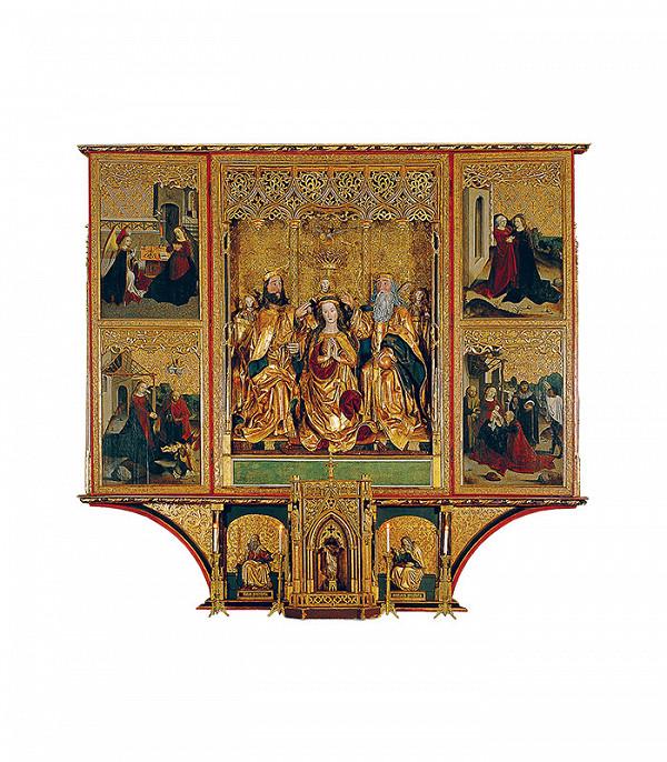 Dieľna oltára v Spišskej Kapitule - Oltár Korunovania Panny Márie v Spišskej kapitule - otvorený