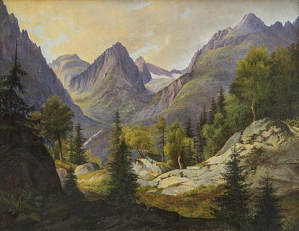 Karl Pichler – Pohľad na Lomnický štít