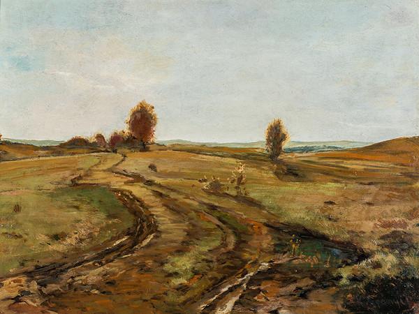Béla Spányi - Krajina s kľukatiacou sa cestou