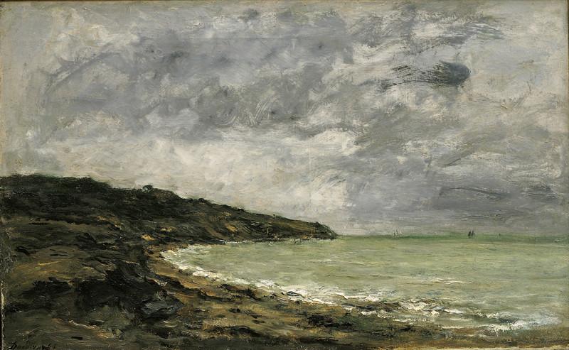 Charles-François Daubigny – Pobřeží v Bretani, 1864, Oblastní galerie Liberec