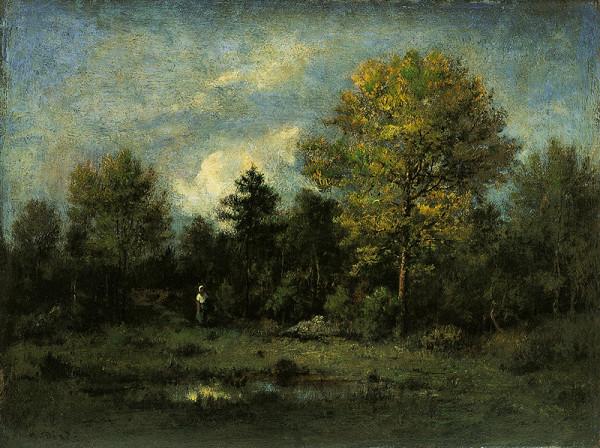 Narcisse Díaz de la Peña – Krajina s lesní tůní