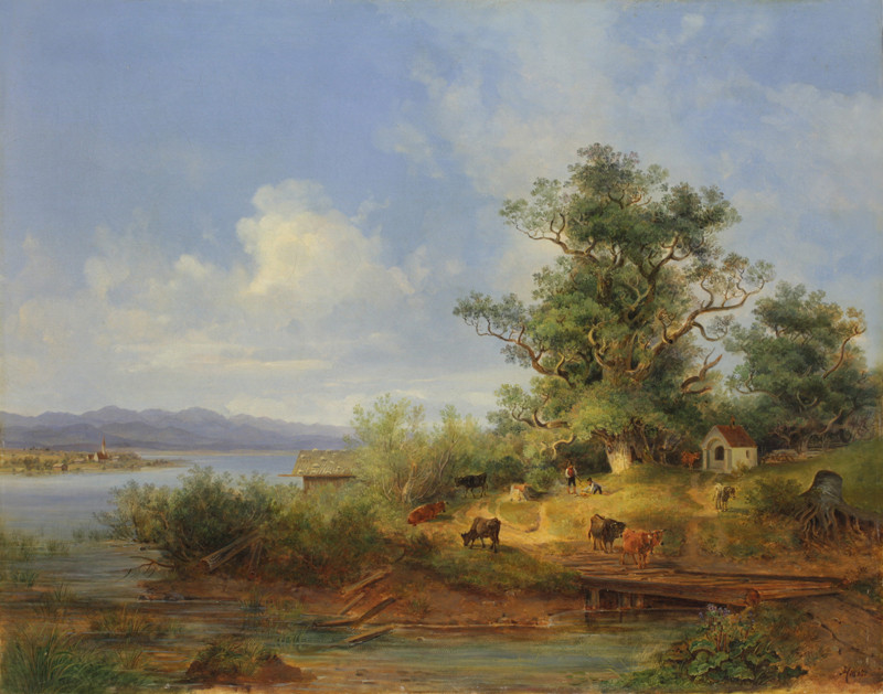 Maximilián Haushofer – Jezerní krajina, 1837, Oblastní galerie Liberec