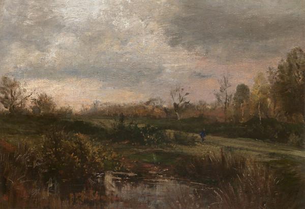 Wilhelm Riedel – Vřesoviště s jezírkem ve Fontainebleau