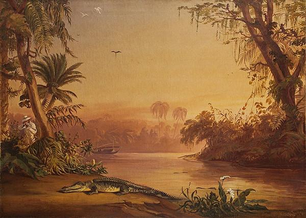 Károly Sterio – Domorodci s krokodílom