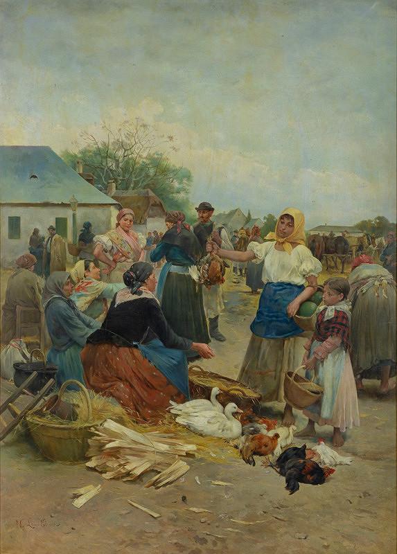 Lajos Deák-Ébner - Na trhu v Szolnoku