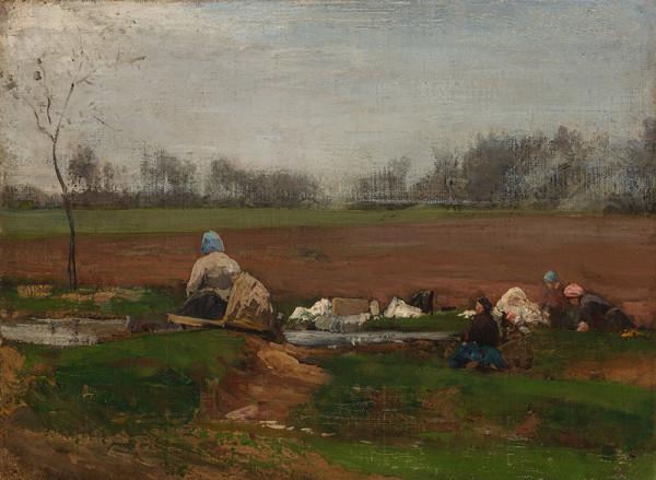 Wilhelm Riedel - Pradleny u potoka