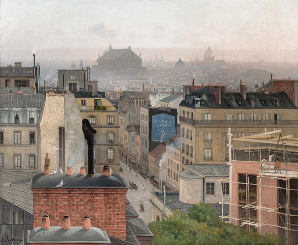 Antonín Chittussi - Pohled na Paříž z Montmartru