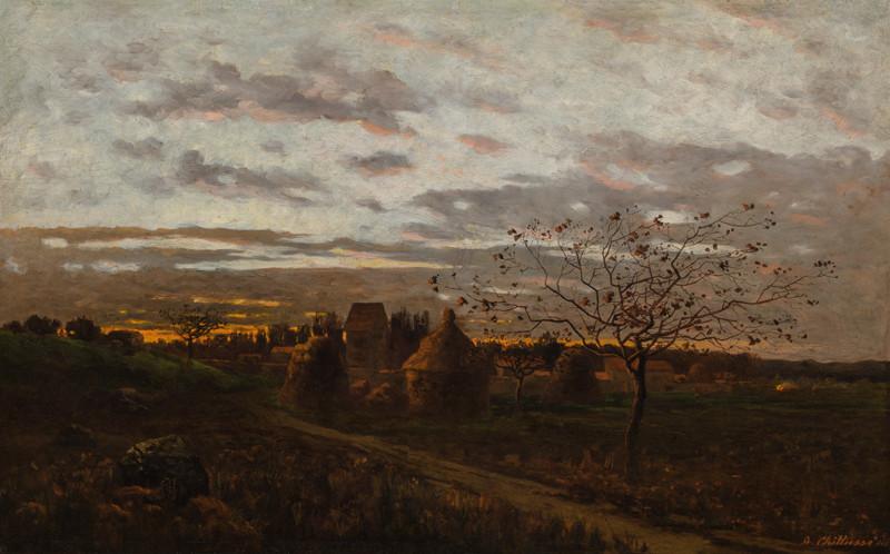 Antonín Chittussi – Západ slunce ve Fontainebleau (Večer v okolí Barbizonu), 1880, Národní galerie v Praze