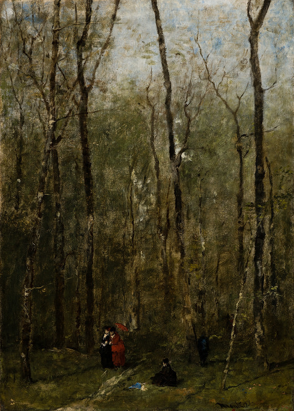 Mihály Munkácsy – Prechádzka v lese