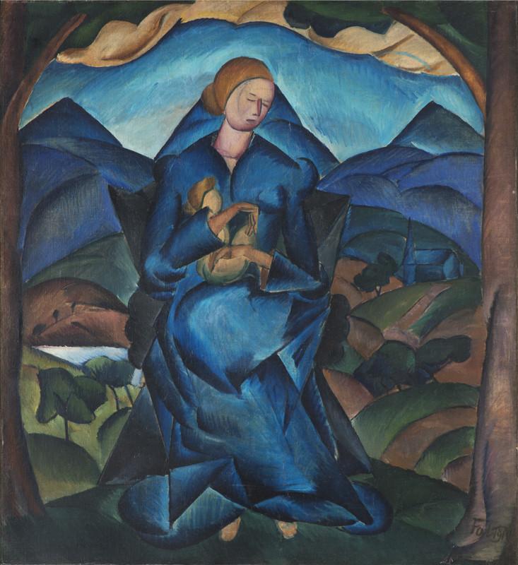 František Foltýn – Modrá Madona, 1922 – 1924, Galerie Pro Arte Praha