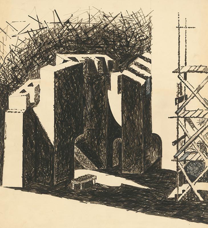Simone de Beauvoir: Neužitočné ústa, 1947, Národné divadlo, Bratislava, réžia.: Jozef Budský. Súkromný majetok.