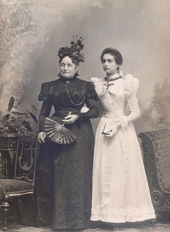 Neznámy autor – Portrét dvoch žien, 1880
