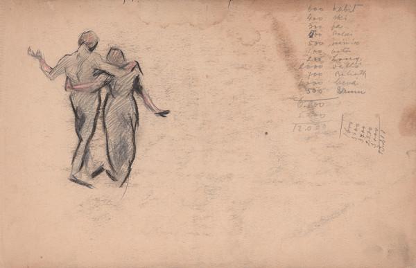 Edmund Gwerk – Skicár 1 Vložený list - pár v objatí