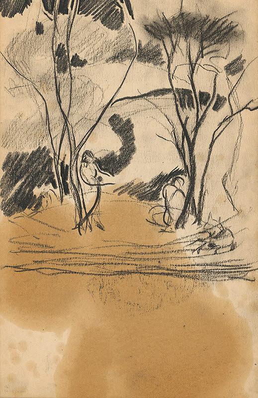 Edmund Gwerk – Skicár 2 Postavy v lese
