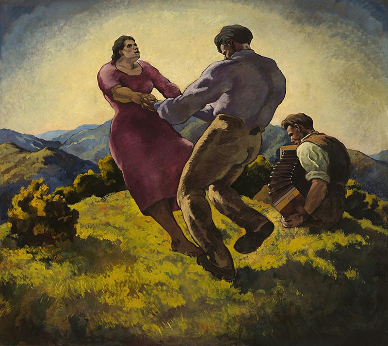 Edmund Gwerk – V nedeľu popoludní (Tanec), 1928, Galéria Jozefa Kollára