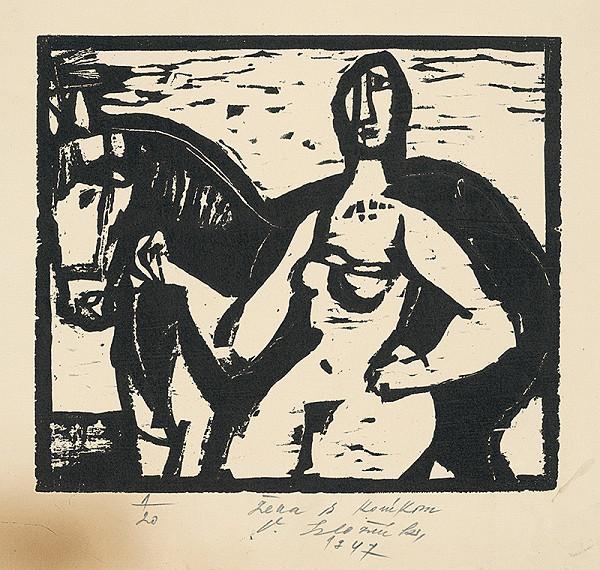 Vincent Hložník - Žena s koníkom