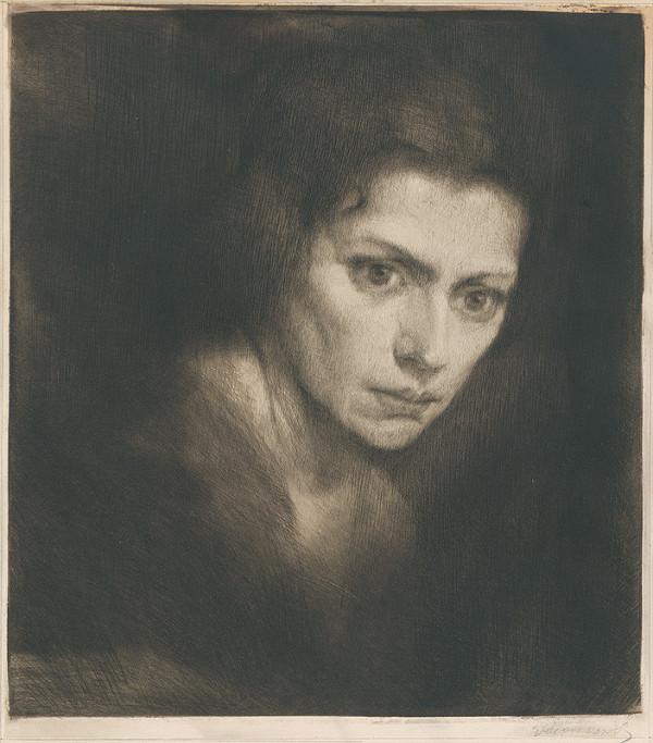 Eugen Krón - Podobizeň ženy (Štúdia hlavy ženy)