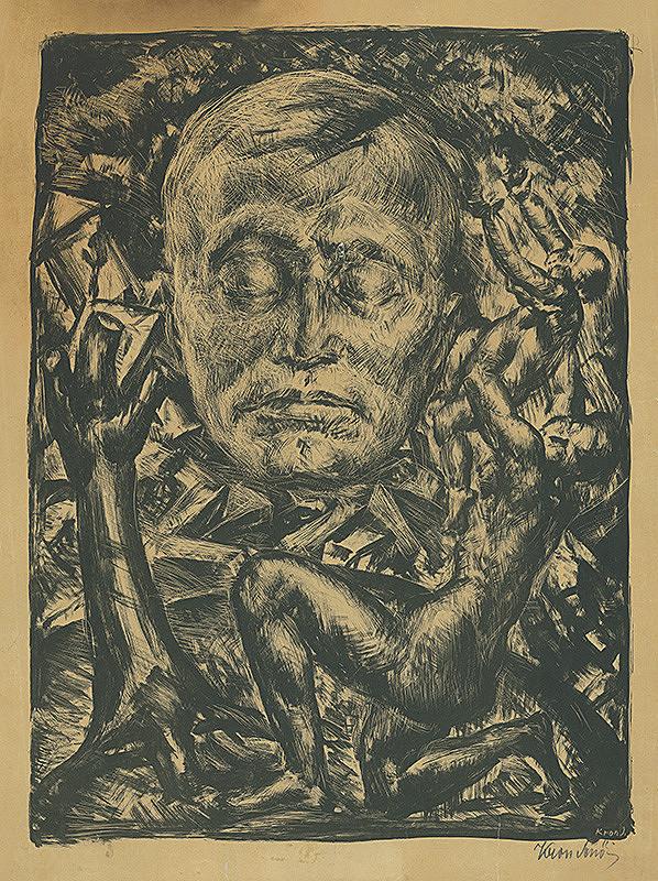 Eugen Krón – Kompozícia s hlavou básnika Endre Adyho