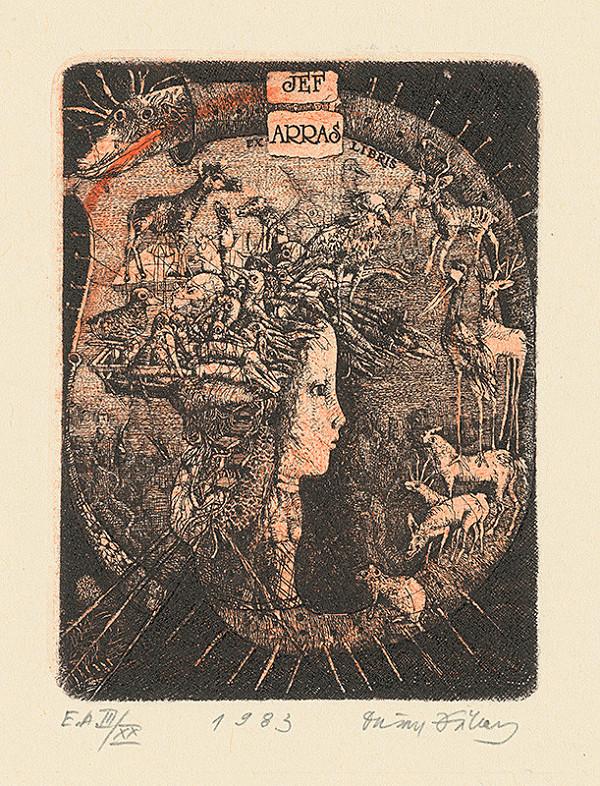 Dušan Kállay – Ex libris Jef Arras