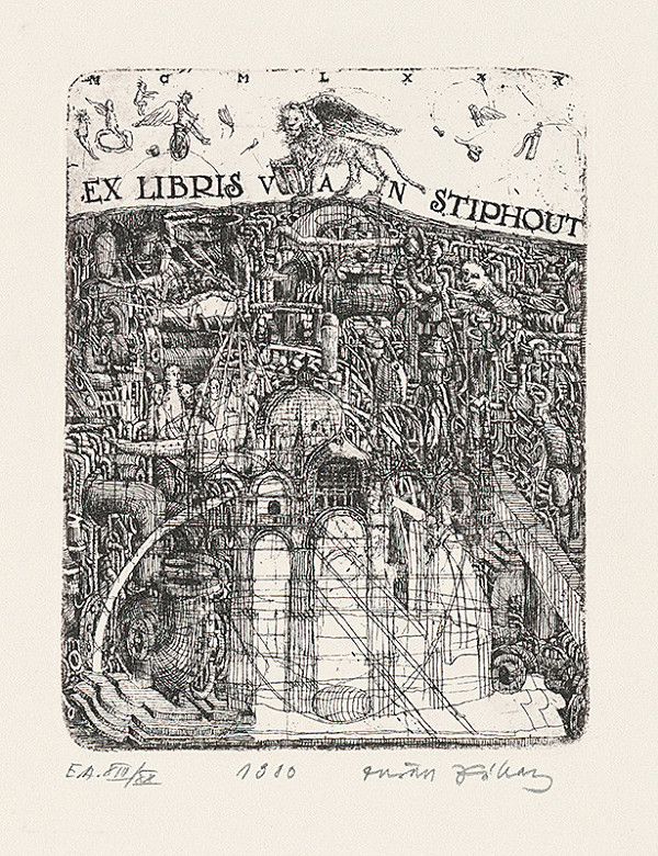 Dušan Kállay - Ex libris van Stiphout