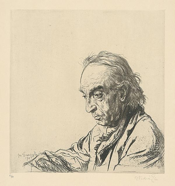 Jaroslav Vodrážka – Hlava starca z profilu
