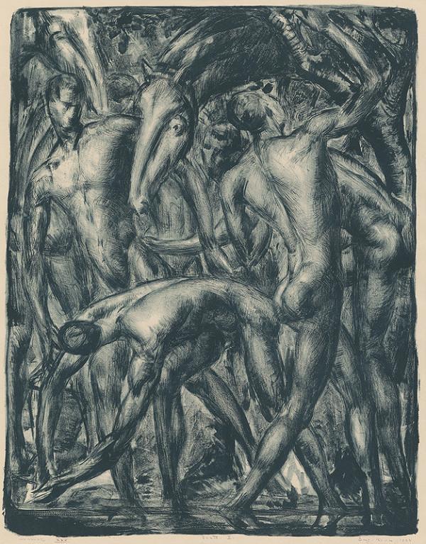 Eugen Krón – Muži s koňom (Kompozícia II.)