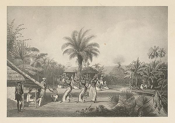 Emanuel Andrássy – Tanečnice na dvore Nazima v Bengálsku (Motív z cesty po východnej Indii II.)
