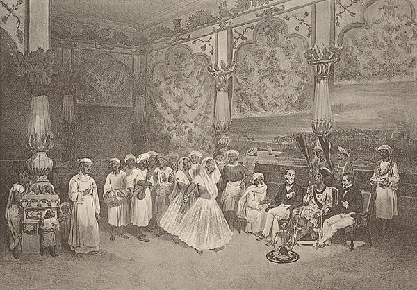 Emanuel Andrássy – Tanečnice na dvore Murserabatiho (Motív z cesty po východnej Indii VII.)