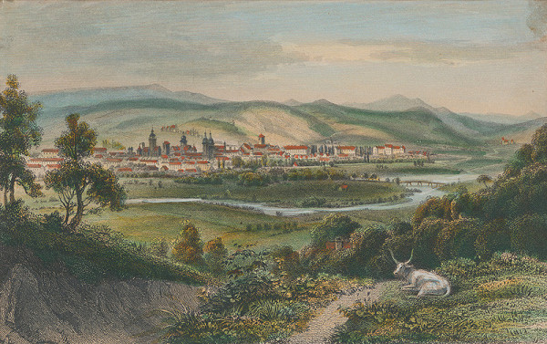 Ludwig Rohbock – Pohľad na Košice od východu