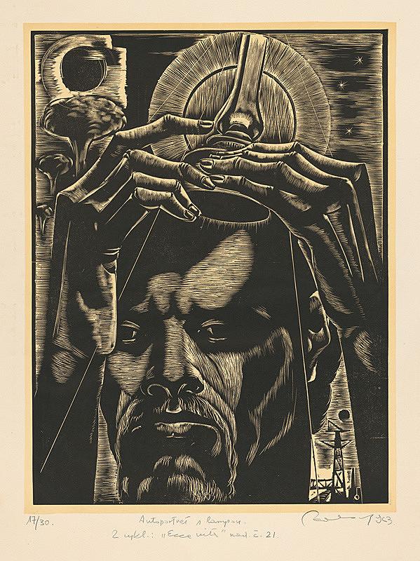 Július Szabó - Autoportrét s lampou